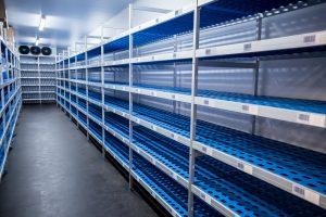 Example of sample storage room