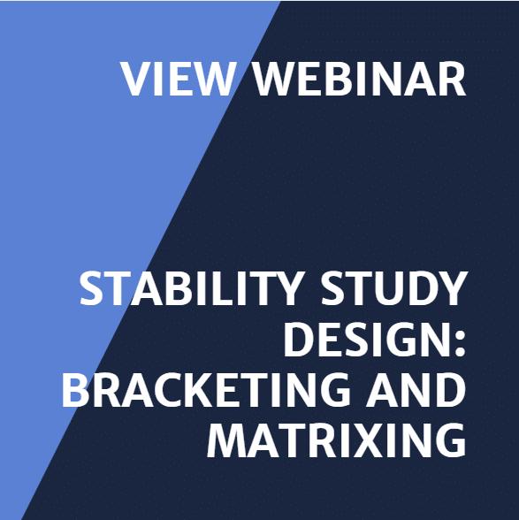 Webinar 1 Recording Stability Study Design